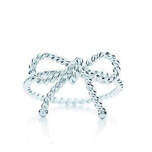 Tiffany & Co. Sterling Silver Twist Bow Ring